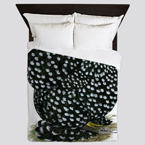 Cochin Black Mottled Hen Queen Duvet